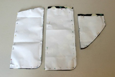 Padded iPad Pouch - cut out front and back flap