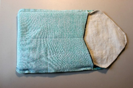Padded iPad Pouch - put pouch into lining