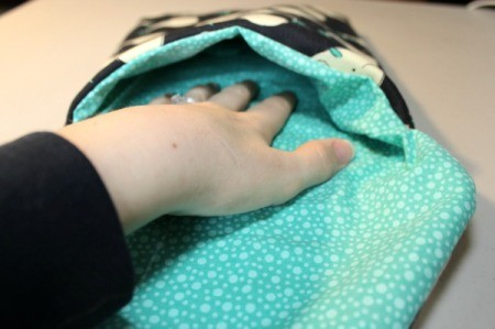 Padded iPad Pouch - slip lining into pouch