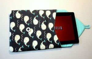 Padded iPad Pouch - ipad in pouch