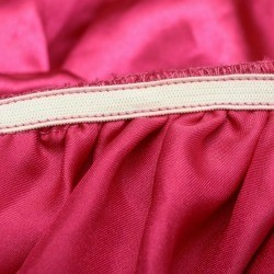 wide elastic on pink fabric