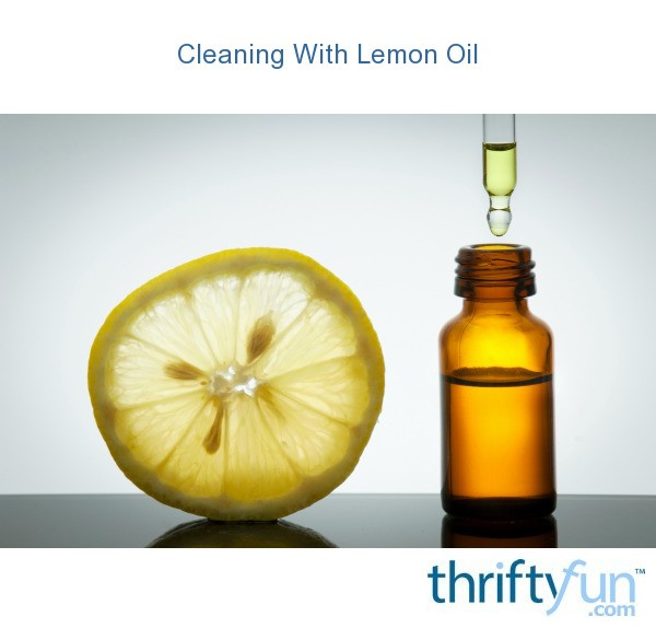 cleaning with lemon oil thriftyfun. Black Bedroom Furniture Sets. Home Design Ideas