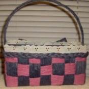 Paper Twist Ribbon Basket