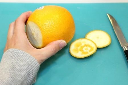 cut off orange ends