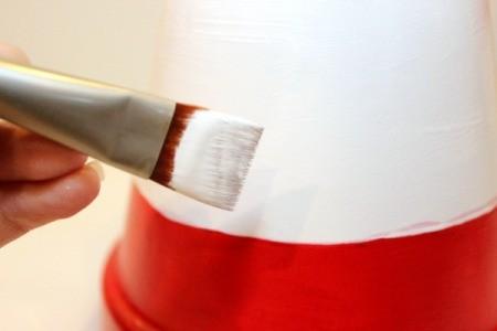 paint white stripes