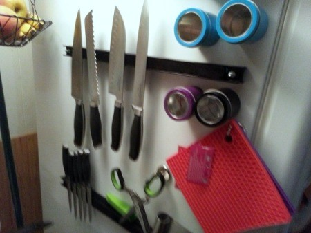 magnetic items on fridge
