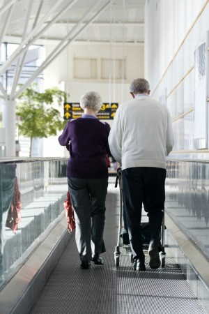 Elderly Couple In Airport