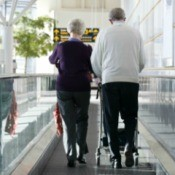 Elderly Couple In Airport