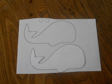 printout of whale