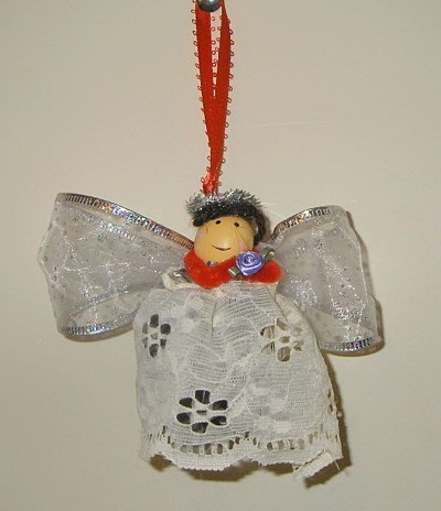 ornament with ribbon hanger