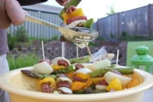 Mess-Free Kabob Assembly