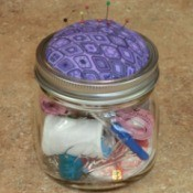 Audit (new)  Done   Set Aside     View Page Mason Jar Pin Cushion and Sewing Kit