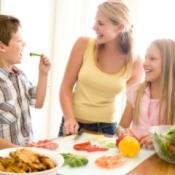 family make dinner