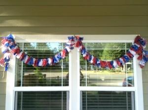 garland hanging outside