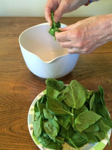 tear spinach