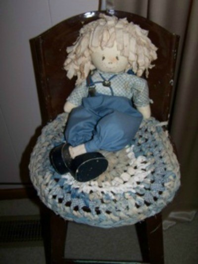 Crocheted Chair Seat Cover