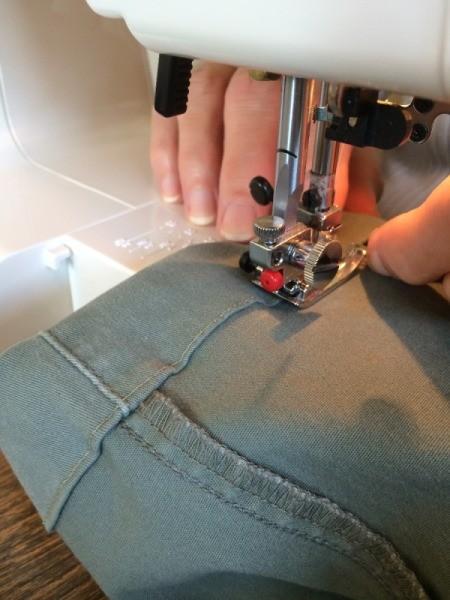 stitching on machine