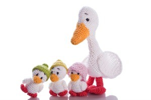 amigurumi duck and ducklings