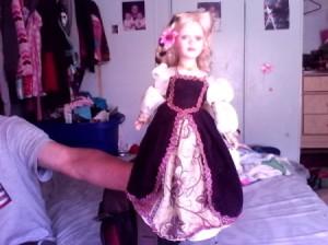 doll in fancy dress