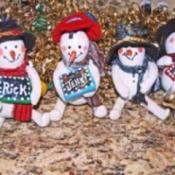 Snowman Gourds
