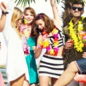 young adults at a beach party