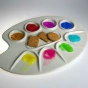 crackers on paint palette