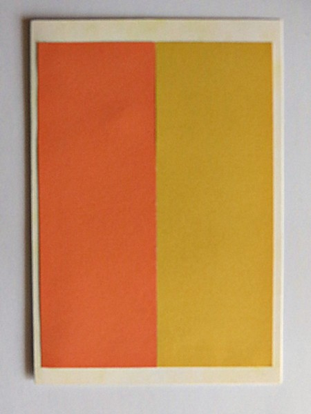 attaching yellow and orange paper
