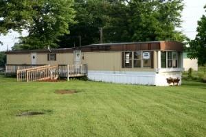 older mobile home