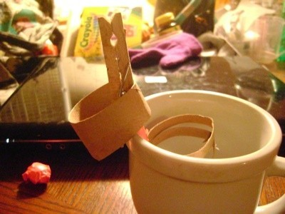 finger ring toss over clothes pin