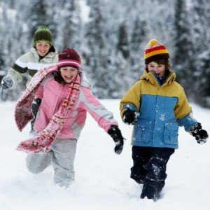 Kids Playing in Winter