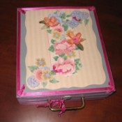 outside of finished pink trunk