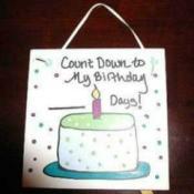 birthday countdown tile