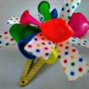 ribbon and balloon hair clip