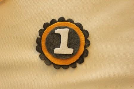 closeup of finished badge