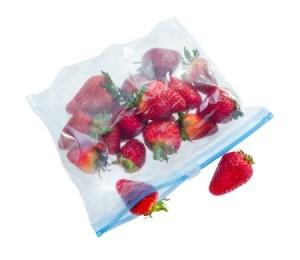 Zip Top Bag With Strawberries