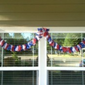 4th of July Scrap Fabric Garland