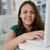 Girl Selling Textbooks Online
