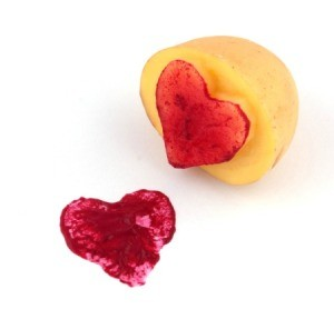 Heart Potato Stamp
