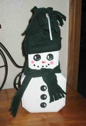 paving stone snowman