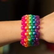 Beaded Rainbow Cuff
