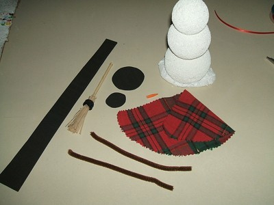 Styrofoam Snowman Supplies