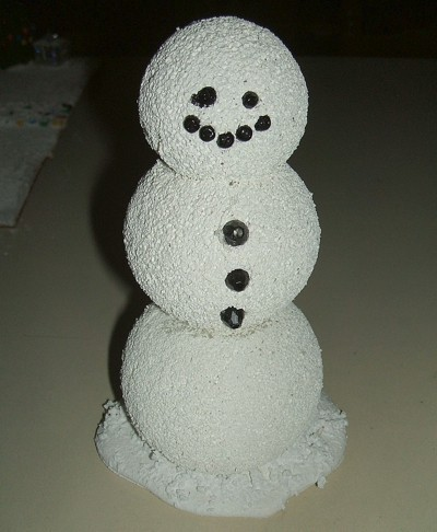 Seed Beads for Snowman Mouth, Eyes and Buttons