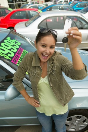 Woman Buying Car