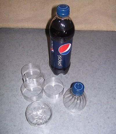 Recycled Soda Bottle Photo Bracelets - Cut up plastic bottles.