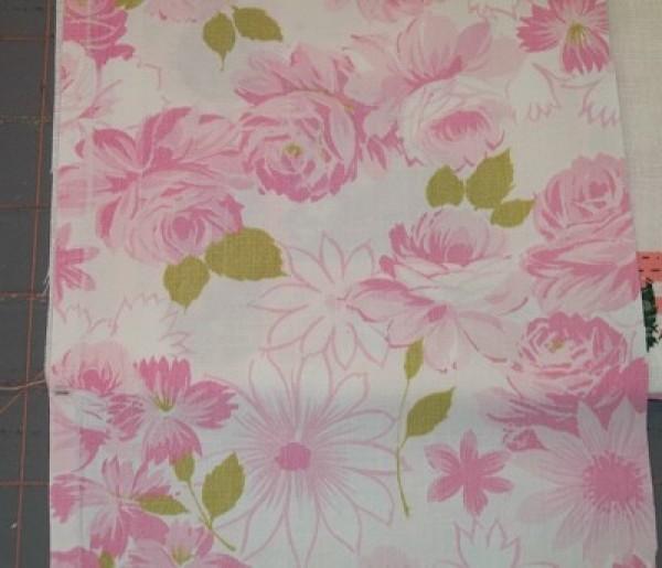 closeup of floral fabric