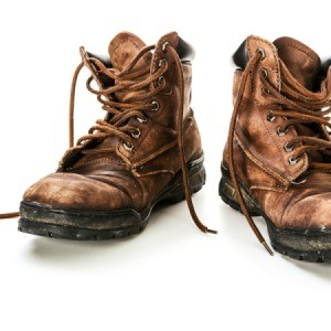 Old Leather Work Boots