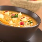 bowl of sweet potato apple soup