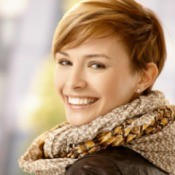 Woman with Short Hair Style