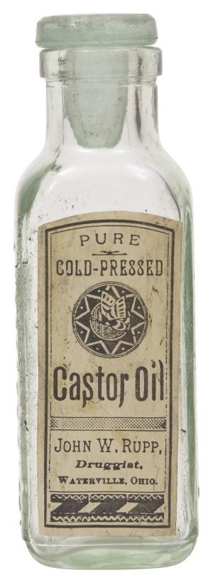antique castor oil bottle