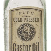 antique castor oil bottle